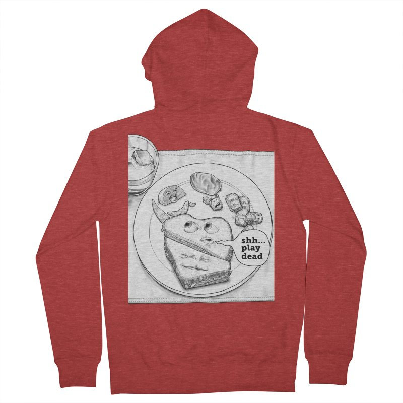 Play Dead Men's French Terry Zip-Up Hoody by Thinkoffbeat / The COUP Shirt Shop