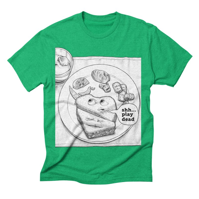 Play Dead Men's Triblend T-shirt by Thinkoffbeat / The COUP Shirt Shop