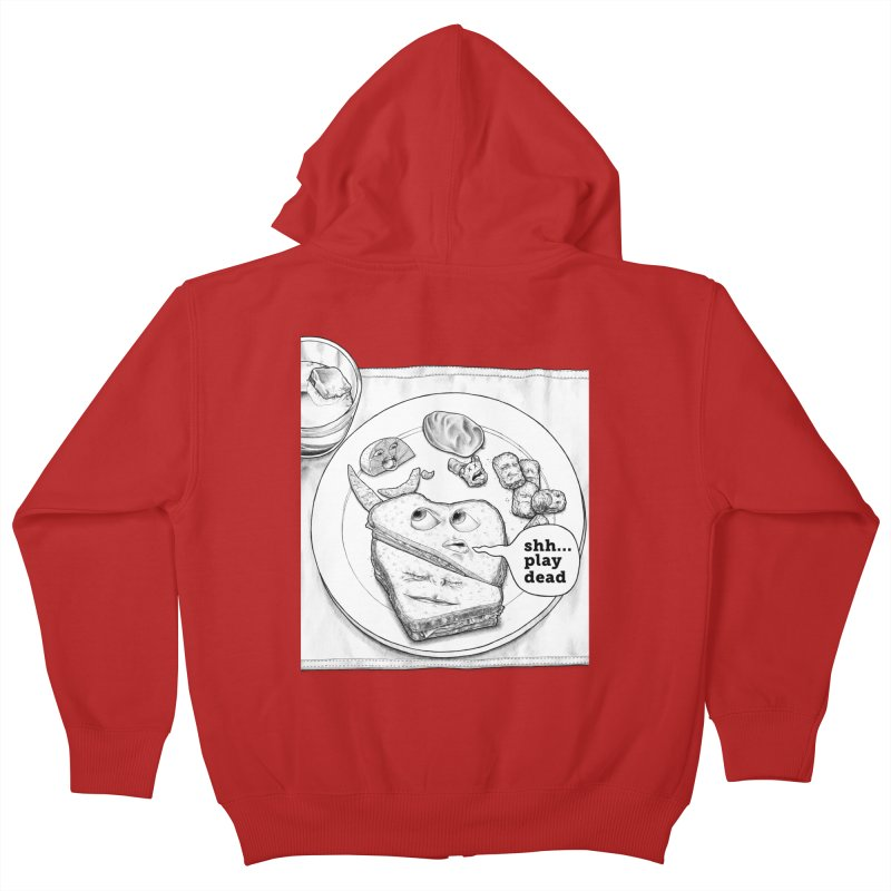 Play Dead Kids Zip-Up Hoody by Thinkoffbeat / The COUP Shirt Shop