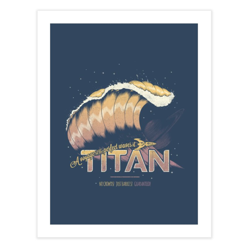 Surfing Titan Home Fine Art Print by thirteen's Artist Shop
