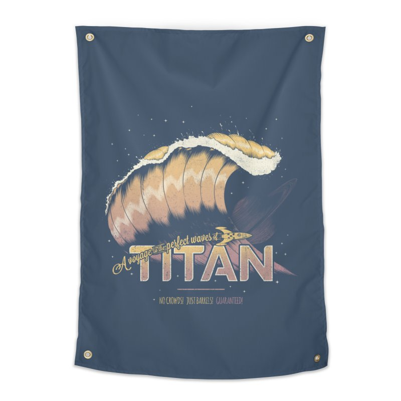 Surfing Titan Home Tapestry by thirteen's Artist Shop