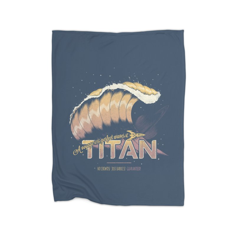 Surfing Titan Home Fleece Blanket Blanket by Bálooie's Artist Shop
