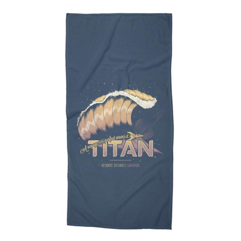 Surfing Titan Accessories Beach Towel by thirteen's Artist Shop