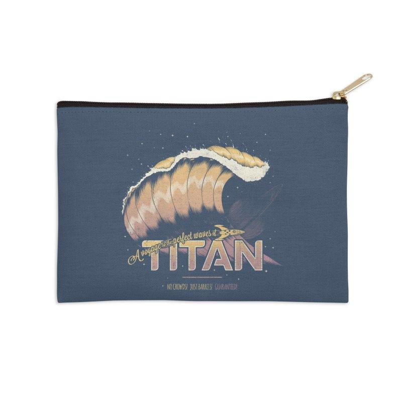 Surfing Titan Accessories Zip Pouch by thirteen's Artist Shop