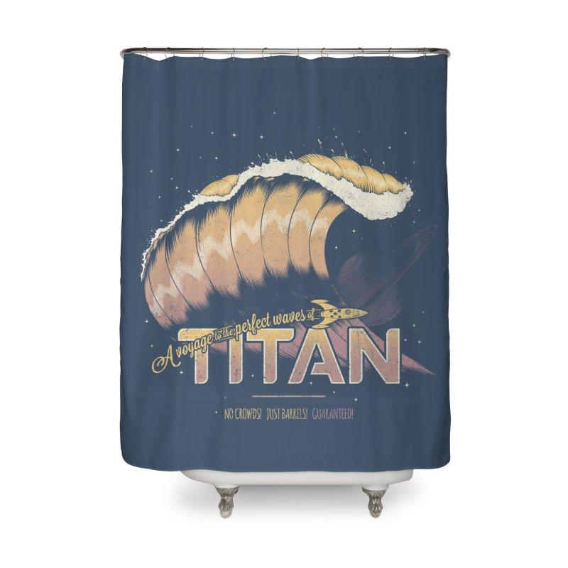 Surfing Titan Home Shower Curtain by thirteen's Artist Shop