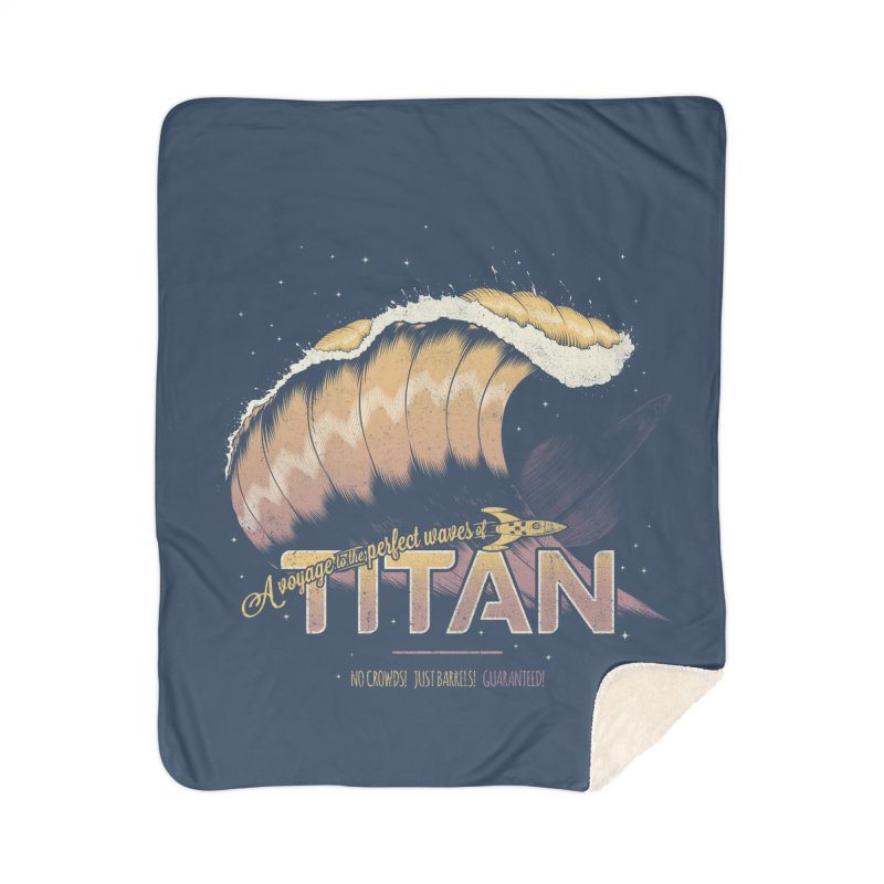Surfing Titan Home Sherpa Blanket Blanket by Bálooie's Artist Shop