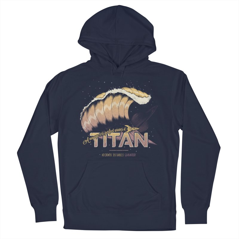 Surfing Titan Women's French Terry Pullover Hoody by Bálooie's Artist Shop