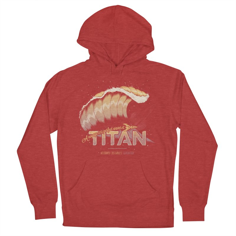Surfing Titan Men's French Terry Pullover Hoody by Bálooie's Artist Shop