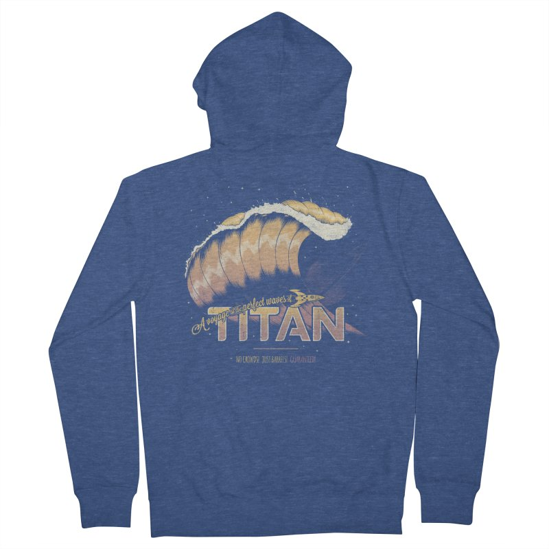 Surfing Titan Women's French Terry Zip-Up Hoody by Bálooie's Artist Shop