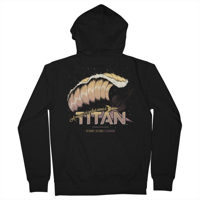 Surfing Titan Women's Zip-Up Hoody by thirteen's Artist Shop