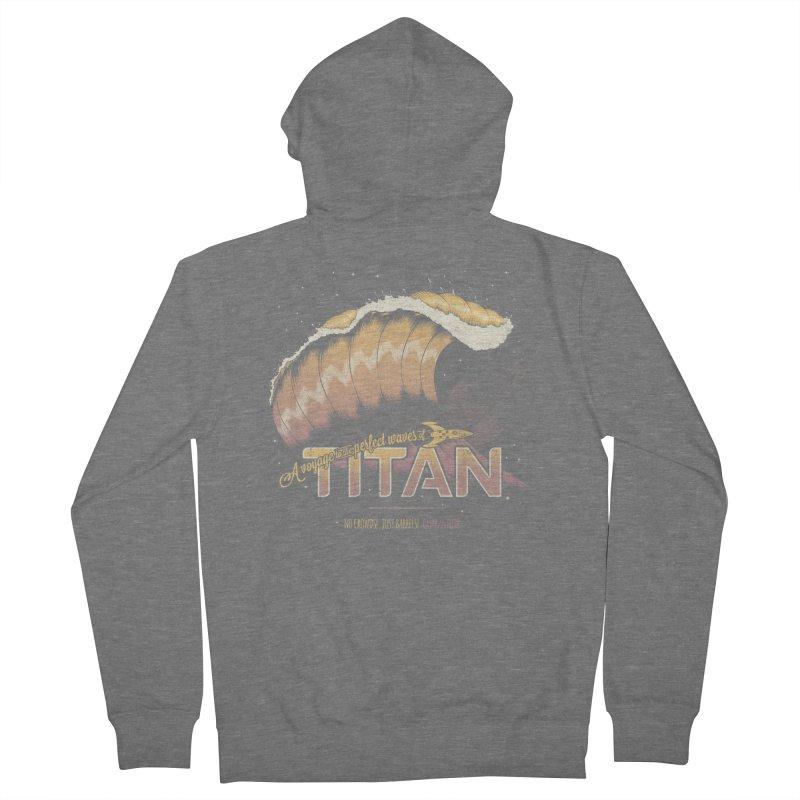 Surfing Titan Men's French Terry Zip-Up Hoody by Bálooie's Artist Shop