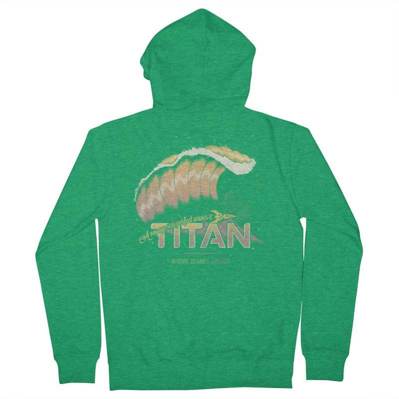 Surfing Titan Men's Zip-Up Hoody by thirteen's Artist Shop