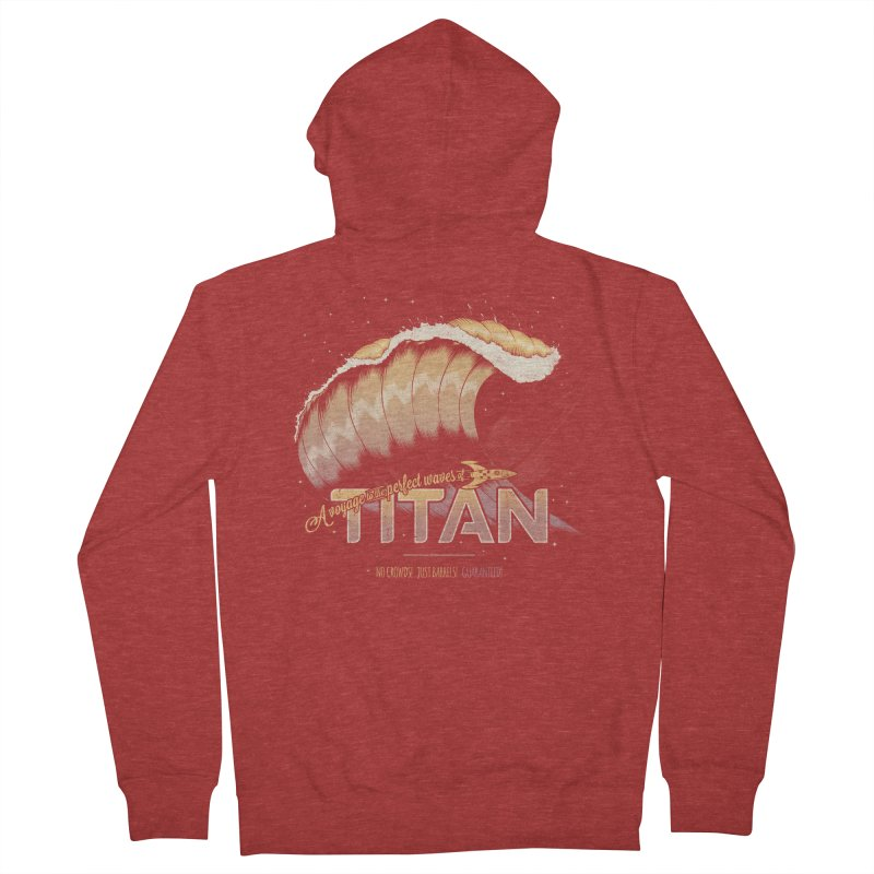 Surfing Titan Men's French Terry Zip-Up Hoody by Bálooie's Artist Shop