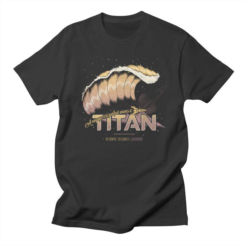 Surfing Titan Men's Regular T-Shirt by Bálooie's Artist Shop