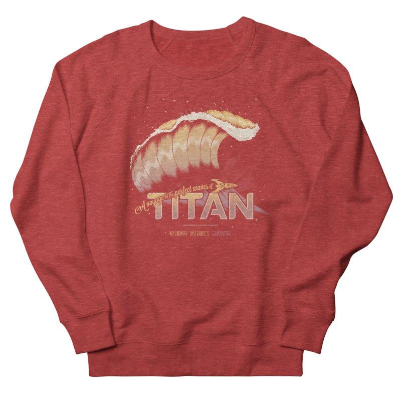 Surfing Titan Women's French Terry Sweatshirt by Bálooie's Artist Shop