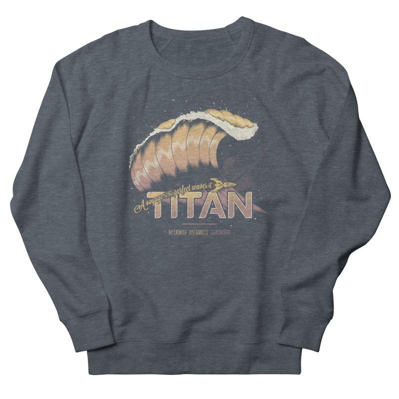 Surfing Titan Men's French Terry Sweatshirt by Bálooie's Artist Shop