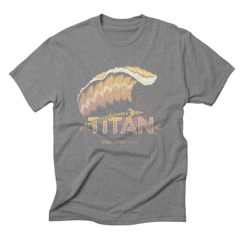 Surfing Titan Men's Triblend T-Shirt by Bálooie's Artist Shop