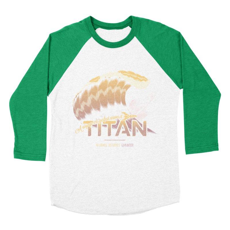Surfing Titan Women's Baseball Triblend Longsleeve T-Shirt by Bálooie's Artist Shop