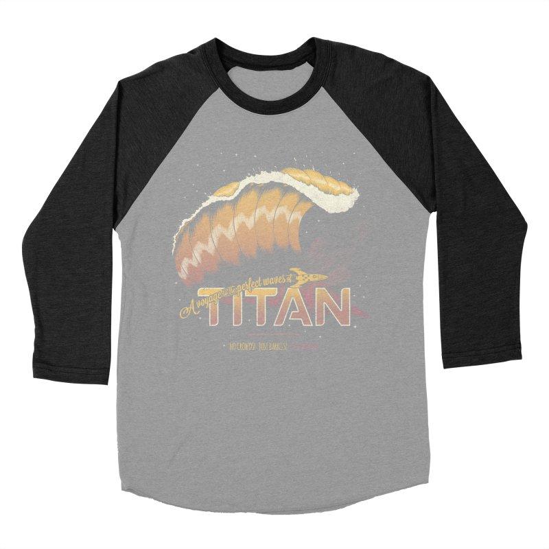 Surfing Titan Men's Baseball Triblend Longsleeve T-Shirt by Bálooie's Artist Shop