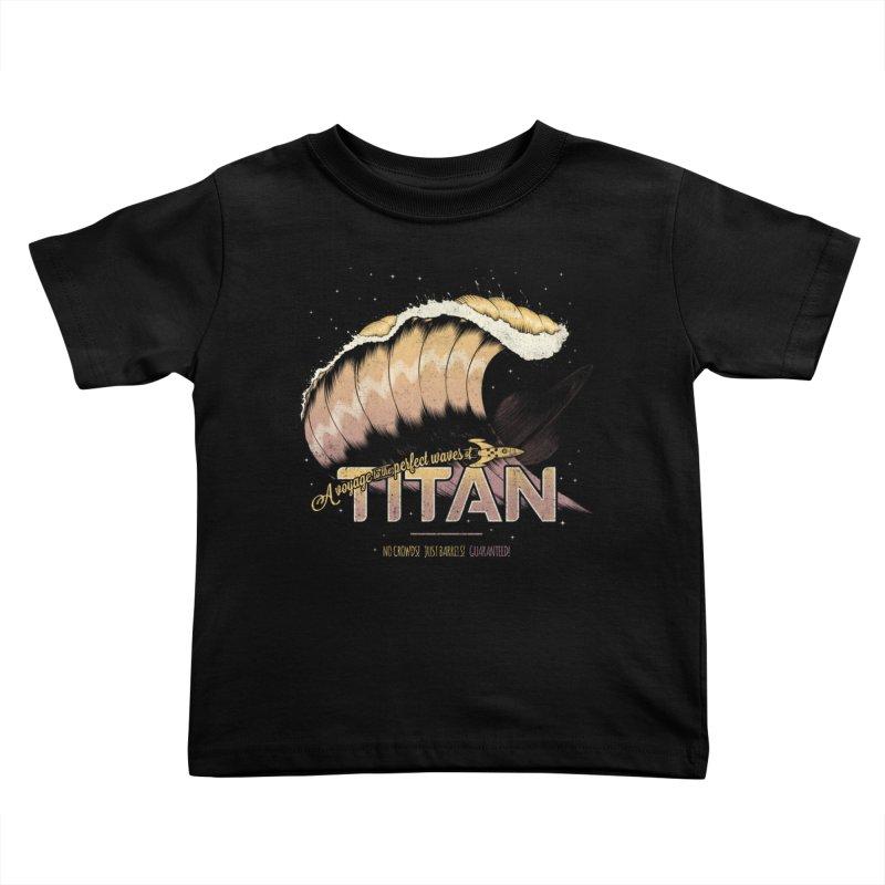 Surfing Titan Kids Toddler T-Shirt by Bálooie's Artist Shop