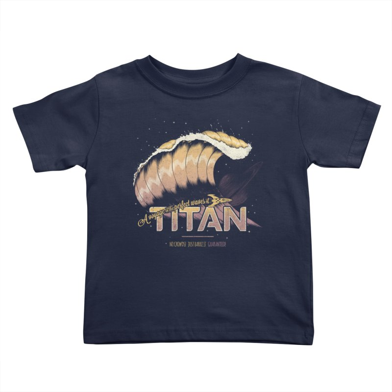 Surfing Titan Kids Toddler T-Shirt by Bálooie's Artist Shop