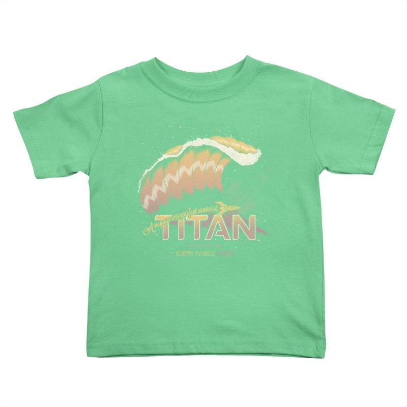 Surfing Titan Kids Toddler T-Shirt by thirteen's Artist Shop
