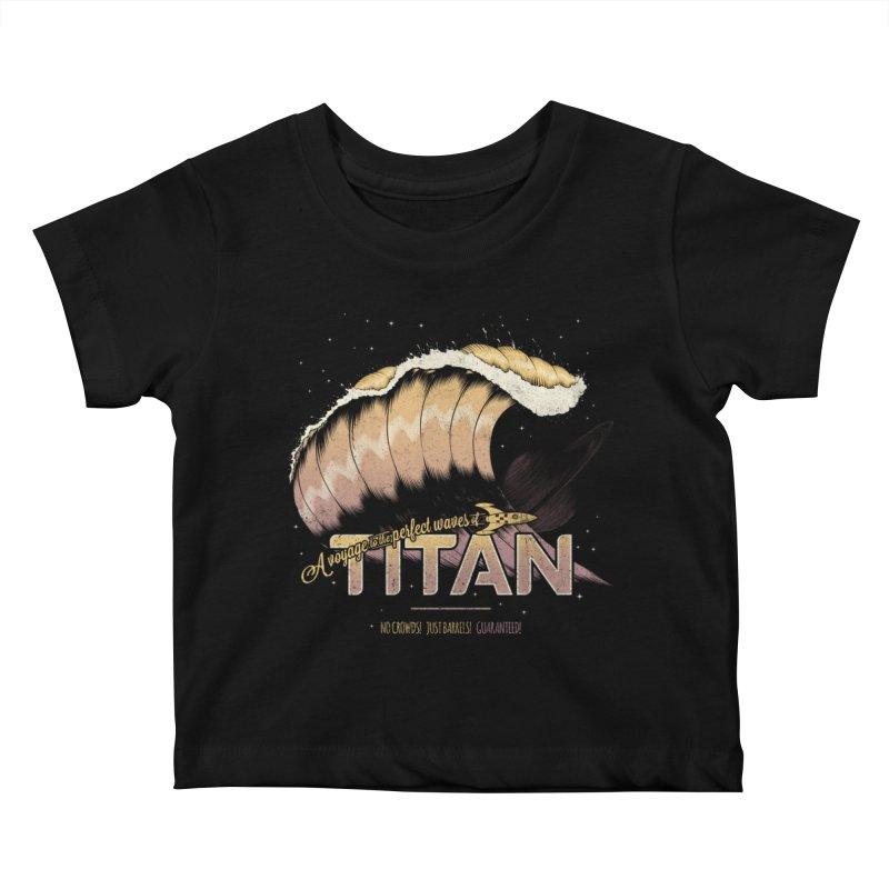 Surfing Titan Kids Baby T-Shirt by Bálooie's Artist Shop