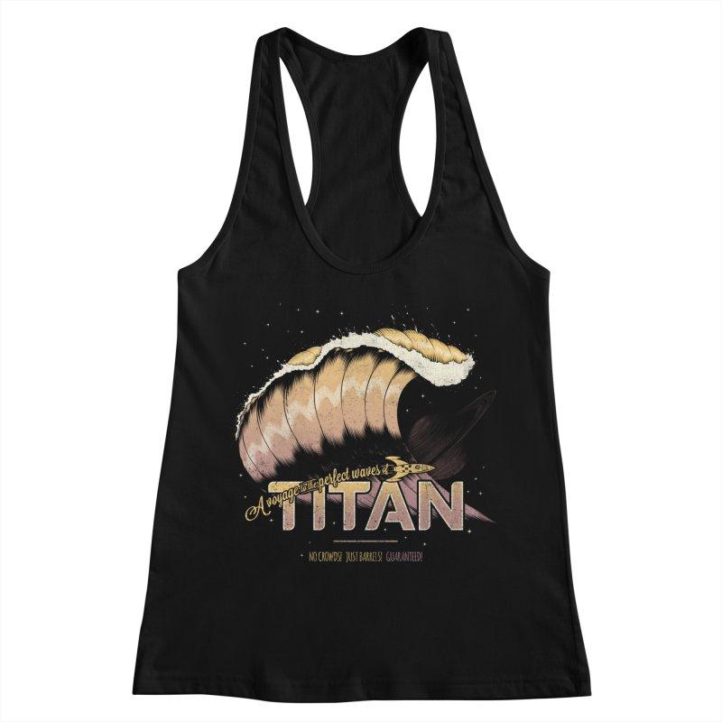 Surfing Titan Women's Racerback Tank by Bálooie's Artist Shop