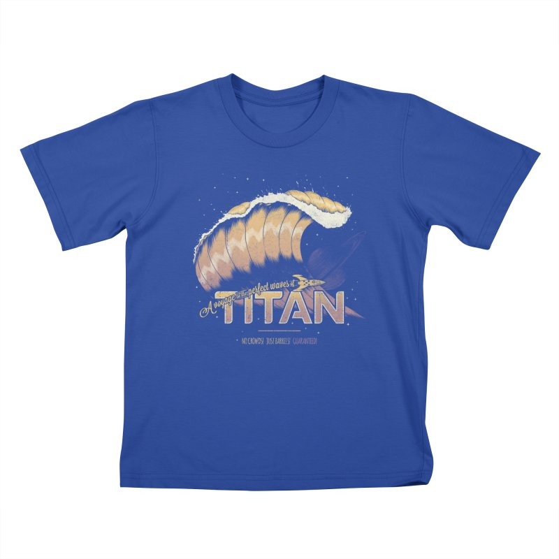 Surfing Titan Kids T-Shirt by Bálooie's Artist Shop