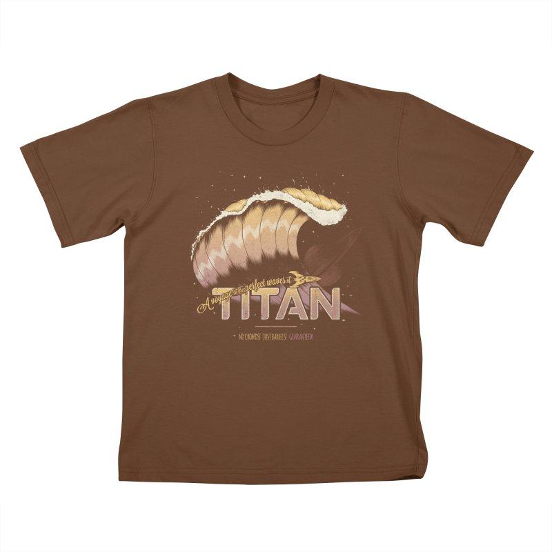 Surfing Titan Kids T-Shirt by Bálooie's Artist Shop