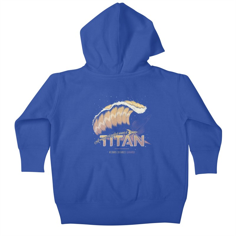 Surfing Titan Kids Baby Zip-Up Hoody by thirteen's Artist Shop