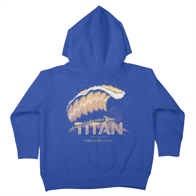 Surfing Titan Kids Toddler Zip-Up Hoody by Bálooie's Artist Shop