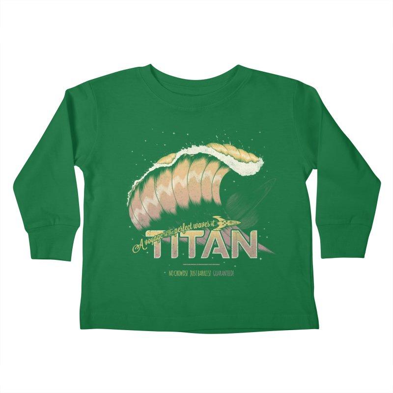 Surfing Titan Kids Toddler Longsleeve T-Shirt by Bálooie's Artist Shop