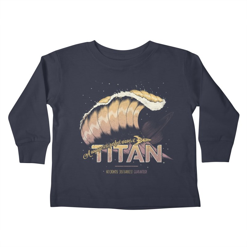 Surfing Titan Kids Toddler Longsleeve T-Shirt by thirteen's Artist Shop