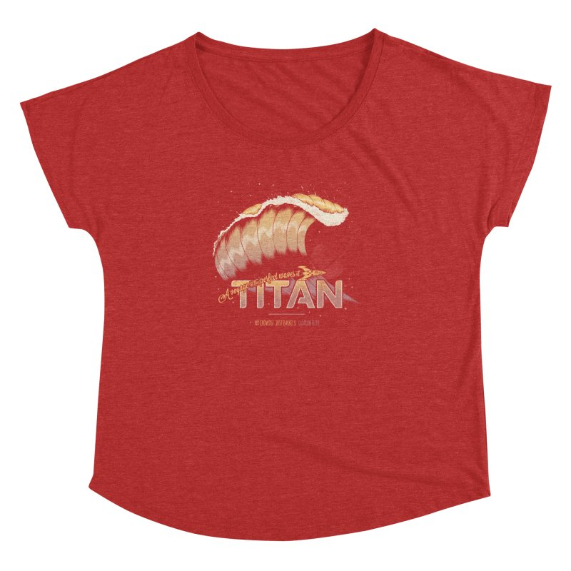 Surfing Titan Women's Dolman Scoop Neck by Bálooie's Artist Shop