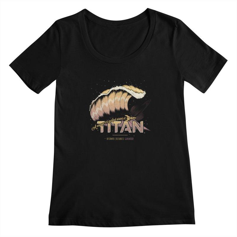 Surfing Titan Women's Scoopneck by thirteen's Artist Shop