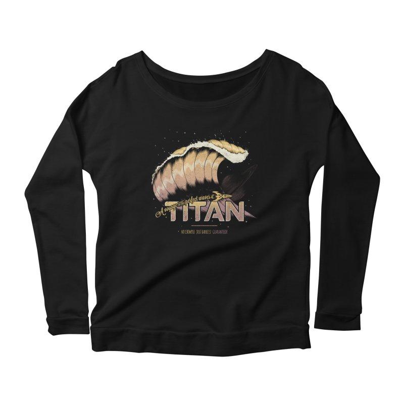 Surfing Titan Women's Scoop Neck Longsleeve T-Shirt by Bálooie's Artist Shop