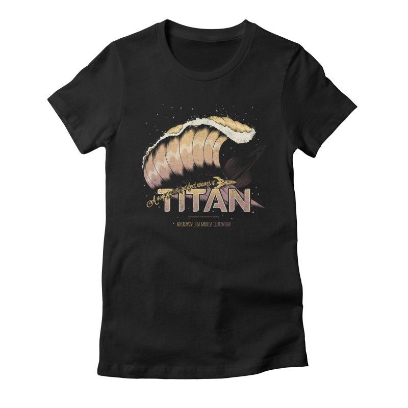 Surfing Titan Women's Fitted T-Shirt by Bálooie's Artist Shop