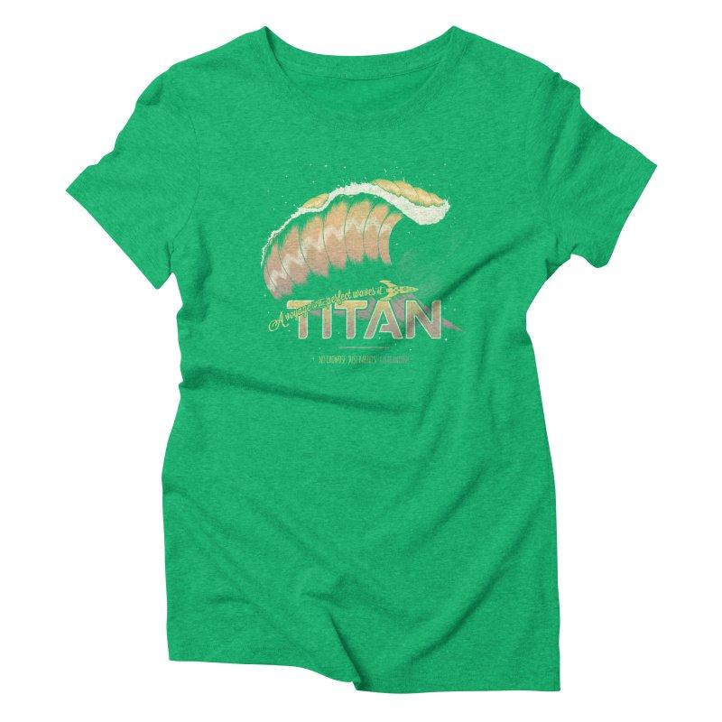 Surfing Titan Women's Triblend T-Shirt by Bálooie's Artist Shop