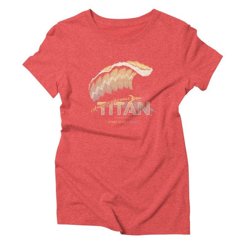 Surfing Titan Women's Triblend T-shirt by thirteen's Artist Shop