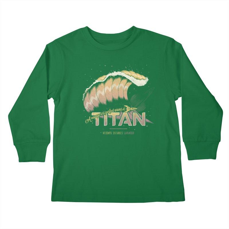 Surfing Titan Kids Longsleeve T-Shirt by Bálooie's Artist Shop
