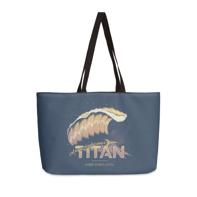 Surfing Titan Accessories Weekender Bag Bag by Bálooie's Artist Shop