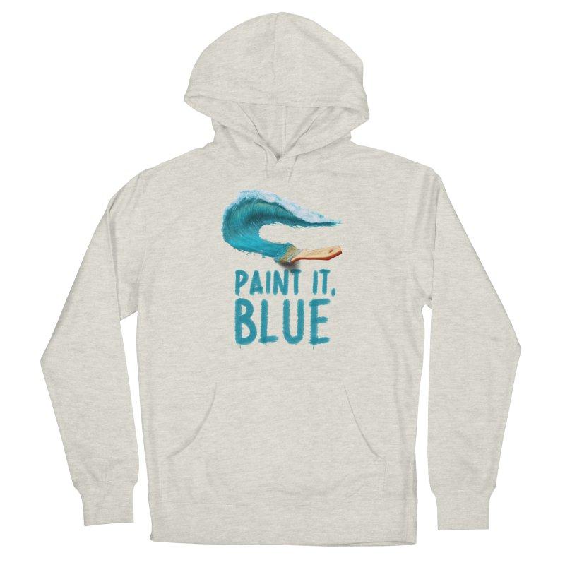 Paint It, Blue Men's Pullover Hoody by Bálooie's Artist Shop