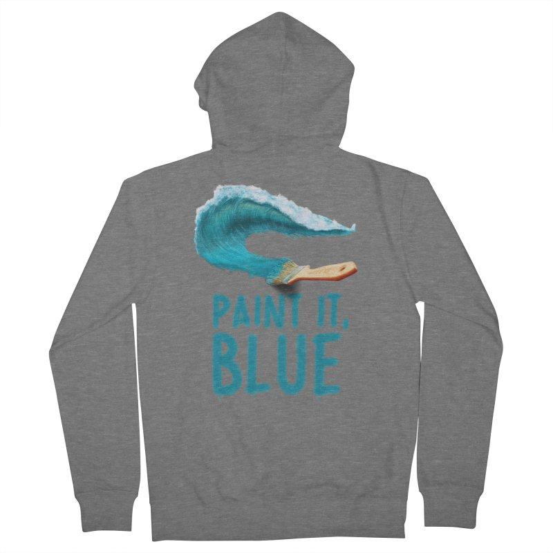 Paint It, Blue Women's Zip-Up Hoody by Bálooie's Artist Shop