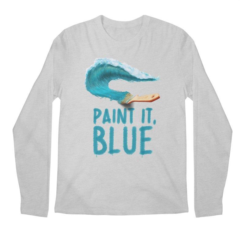 Paint It, Blue Men's Regular Longsleeve T-Shirt by Bálooie's Artist Shop