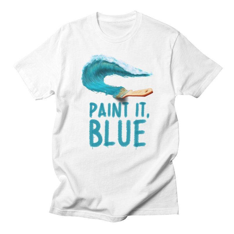 Paint It, Blue Men's Regular T-Shirt by Bálooie's Artist Shop