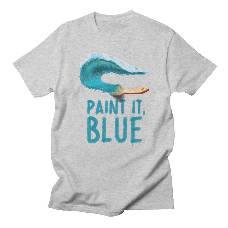 Paint It, Blue Men's Regular T-Shirt by Bálooie's Artist Shop