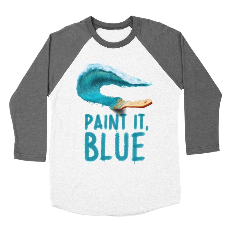 Paint It, Blue Men's Baseball Triblend Longsleeve T-Shirt by Bálooie's Artist Shop