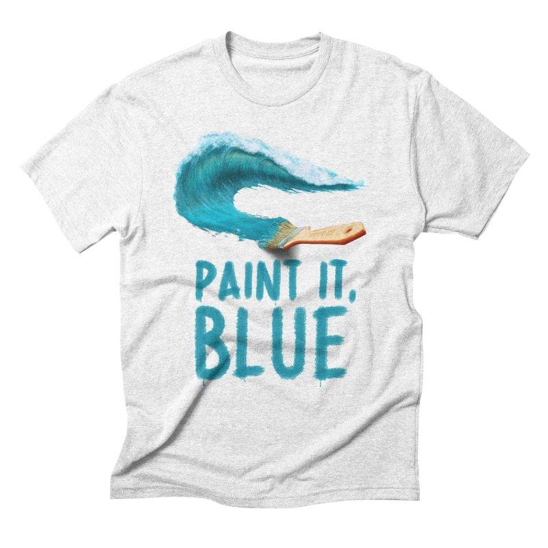 Paint It, Blue Men's Triblend T-shirt by thirteen's Artist Shop