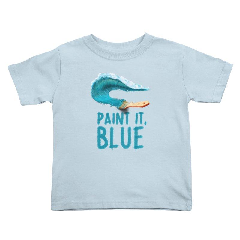 Paint It, Blue Kids Toddler T-Shirt by thirteen's Artist Shop